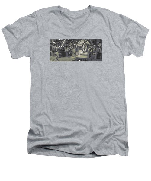 Pondering Chewie's Next Move Men's V-Neck T-Shirt by Kurt Ramschissel