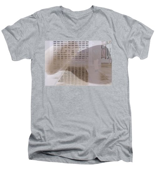 Pondering Men's V-Neck T-Shirt by Kerryn Madsen-Pietsch