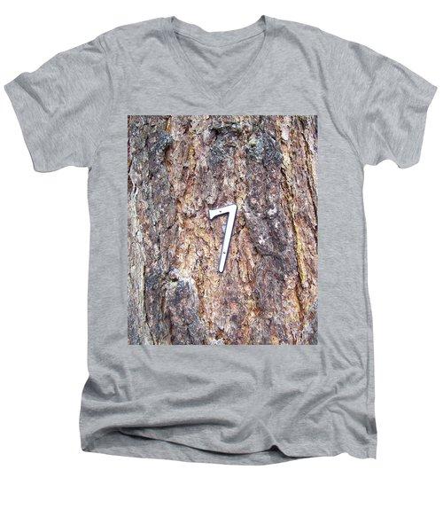 Ponderosa Men's V-Neck T-Shirt by Pamela Walrath
