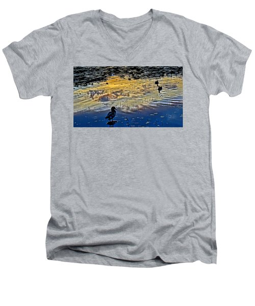 Pondscape Men's V-Neck T-Shirt