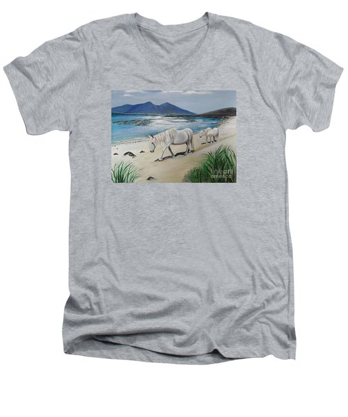 Ponies Of Muck- Painting Men's V-Neck T-Shirt