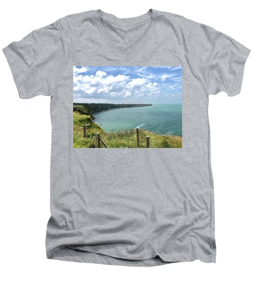 Pointe Du Hoc Men's V-Neck T-Shirt