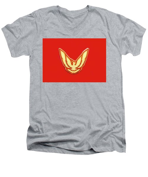 Pontiac Firebird Emblem Men's V-Neck T-Shirt