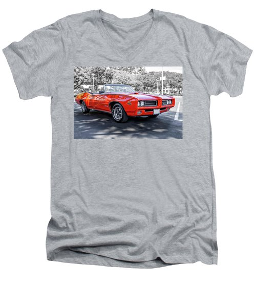 Pontiac G T O Judge Convertible Men's V-Neck T-Shirt