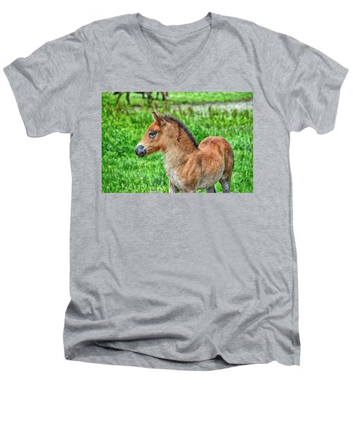 Pony Men's V-Neck T-Shirt