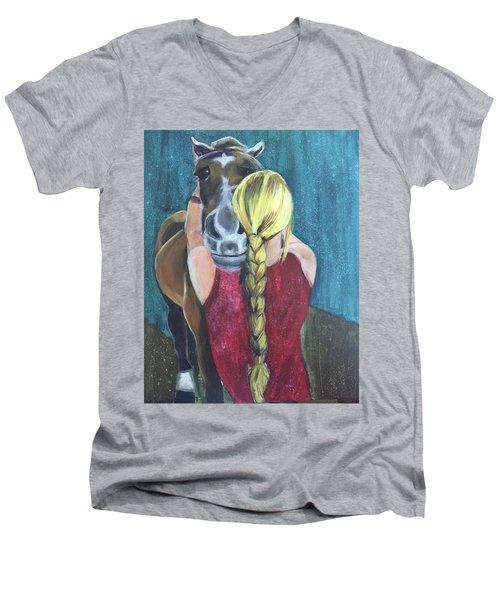 Pony Love Men's V-Neck T-Shirt