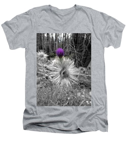 Men's V-Neck T-Shirt featuring the photograph Poof by Marie Neder