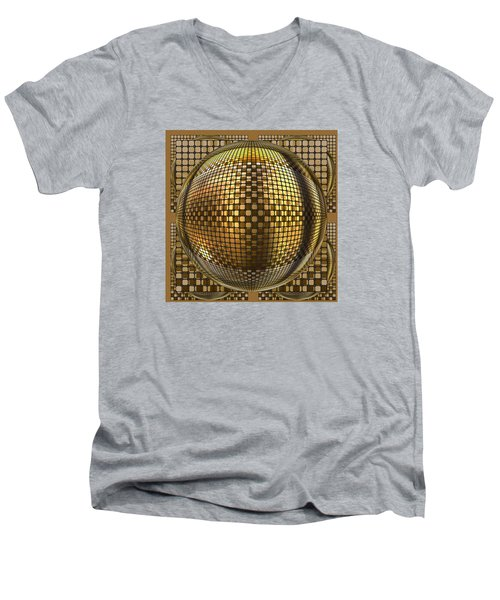Men's V-Neck T-Shirt featuring the digital art Pop Art Circles by Mario Carini