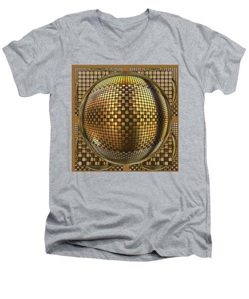 Pop Art Circles Men's V-Neck T-Shirt