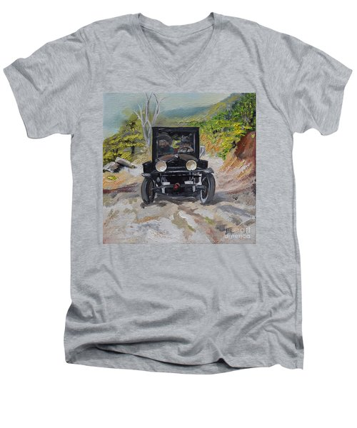 Popcorn Sutton - Looking For Likker Men's V-Neck T-Shirt