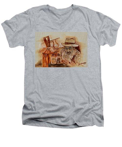Popcorn Sutton - Waiting On Shine Men's V-Neck T-Shirt