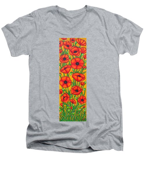Poppies Under The Tuscan Sun Men's V-Neck T-Shirt