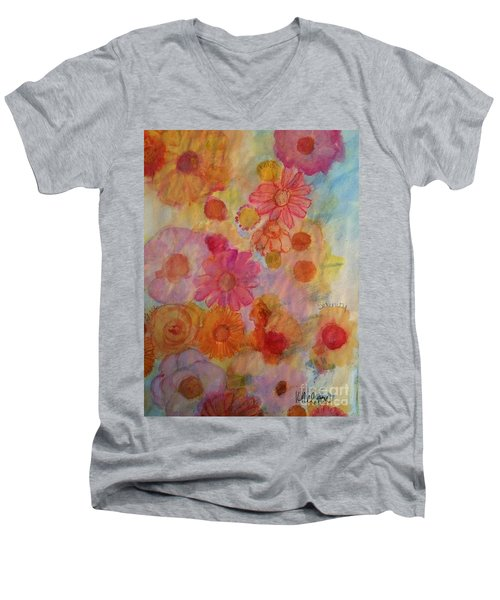 Popping Men's V-Neck T-Shirt by Kim Nelson