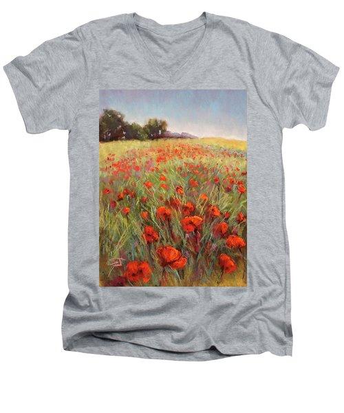 Poppy Dance Men's V-Neck T-Shirt