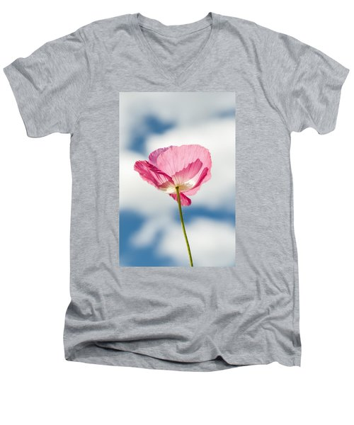 Poppy In The Clouds Men's V-Neck T-Shirt