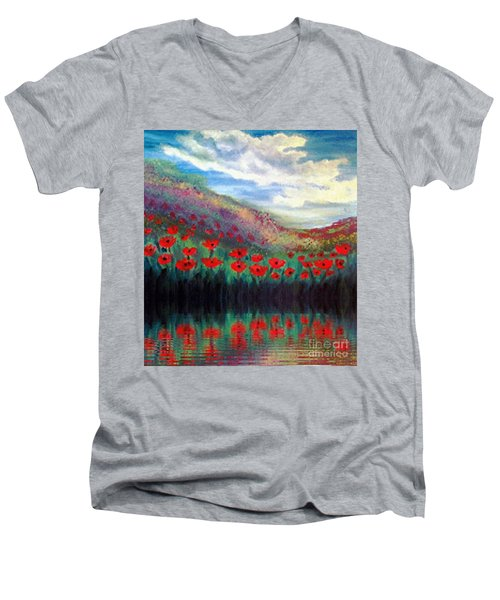 Poppy Wonderland Men's V-Neck T-Shirt