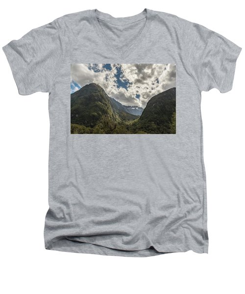 Men's V-Neck T-Shirt featuring the photograph Pop's View Lookout by Gary Eason