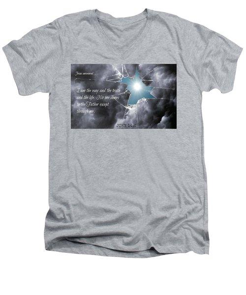 Popular218 Men's V-Neck T-Shirt by David Norman