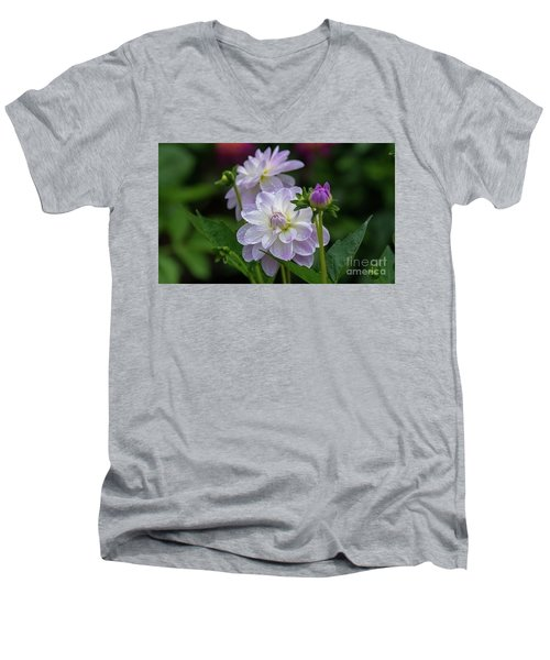 Porcelain Dahlias 2 Men's V-Neck T-Shirt