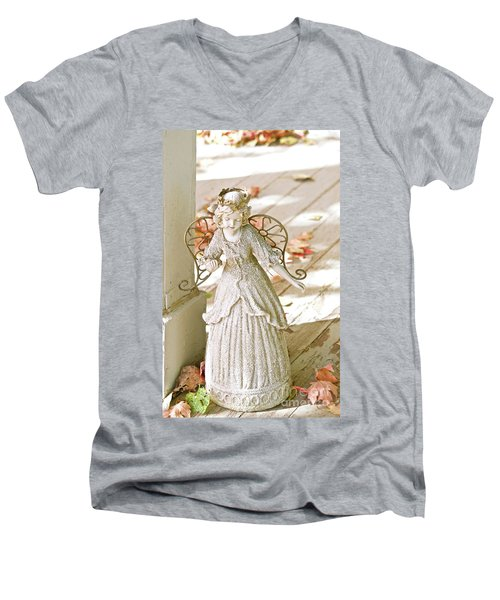 Porch Angel In The Fall Men's V-Neck T-Shirt