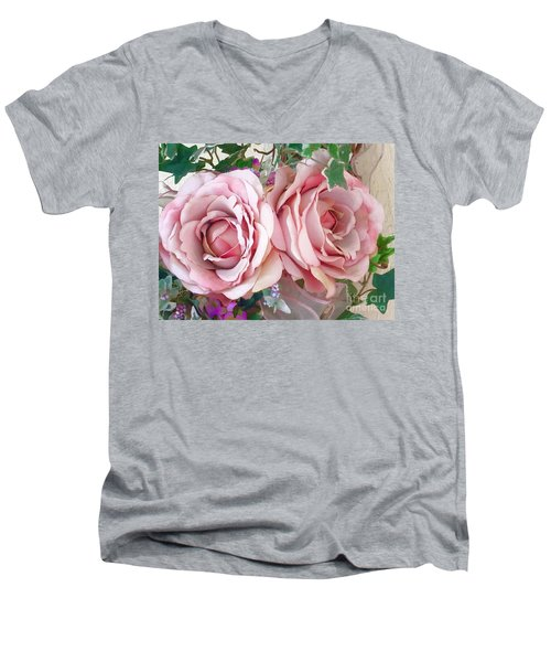 Porch Roses Men's V-Neck T-Shirt