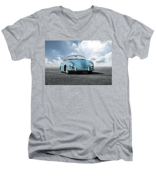 Men's V-Neck T-Shirt featuring the digital art Porsche 356 Speedster by Peter Chilelli