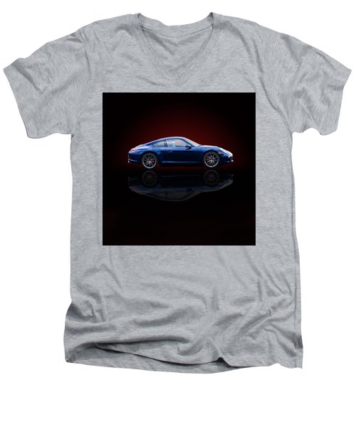 Porsche 911 Carrera - Blue Men's V-Neck T-Shirt