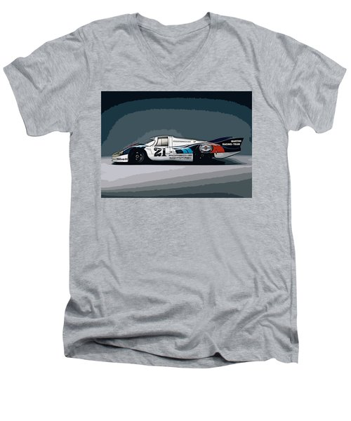 Porsche 917 Longtail 1971 Men's V-Neck T-Shirt