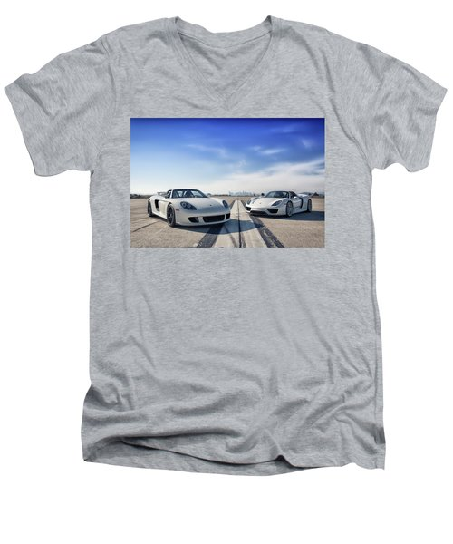 #porsche #carreragt And #918spyder Men's V-Neck T-Shirt