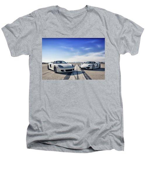 #porsche #carreragt And #918spyder Men's V-Neck T-Shirt