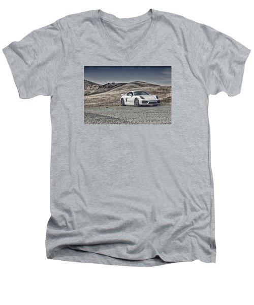 Porsche Cayman Gt4 In The Wild Men's V-Neck T-Shirt