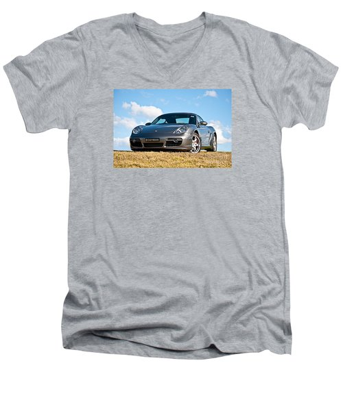 Porsche Cayman Men's V-Neck T-Shirt