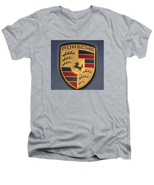 Porsche Emblem Men's V-Neck T-Shirt