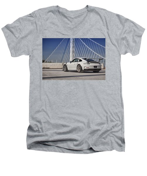 Porsche Gt3rs Men's V-Neck T-Shirt