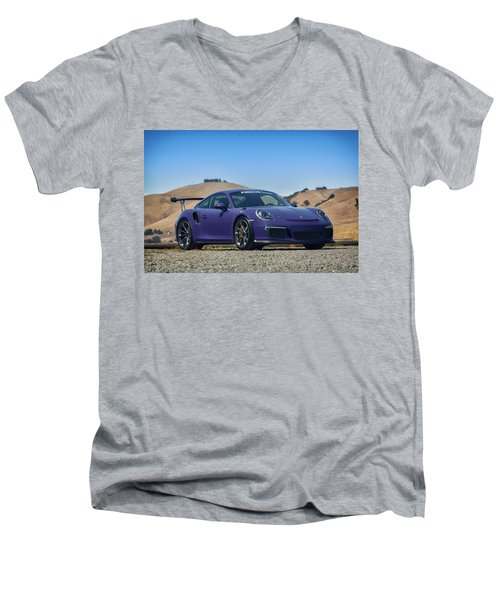 #porsche #gt3rs #ultraviolet Men's V-Neck T-Shirt