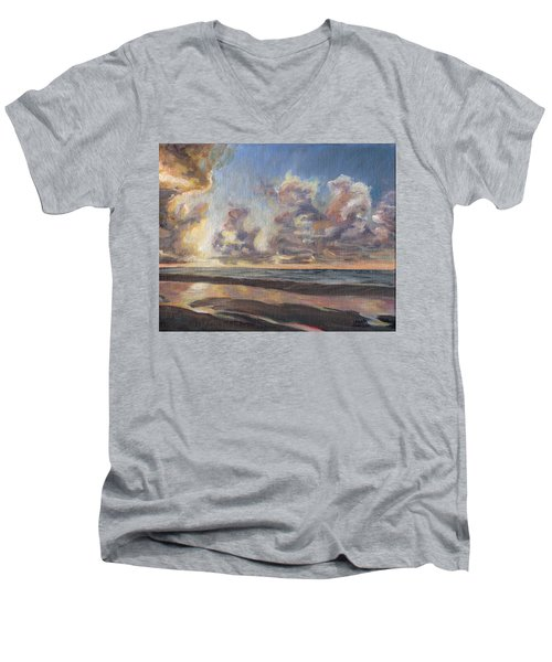 Port Aransas Sunrise Men's V-Neck T-Shirt