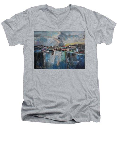 Port At Dusk II Men's V-Neck T-Shirt