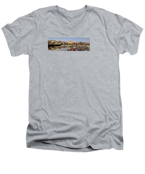 Men's V-Neck T-Shirt featuring the photograph Port Of Ferrol Galicia Spain by Pablo Avanzini