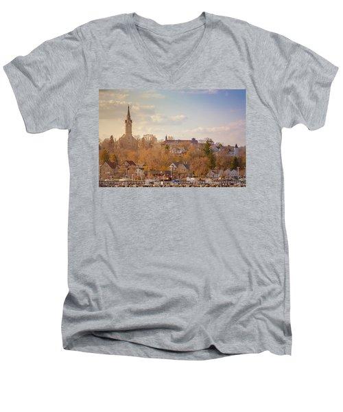 Port Washington Skyline Men's V-Neck T-Shirt