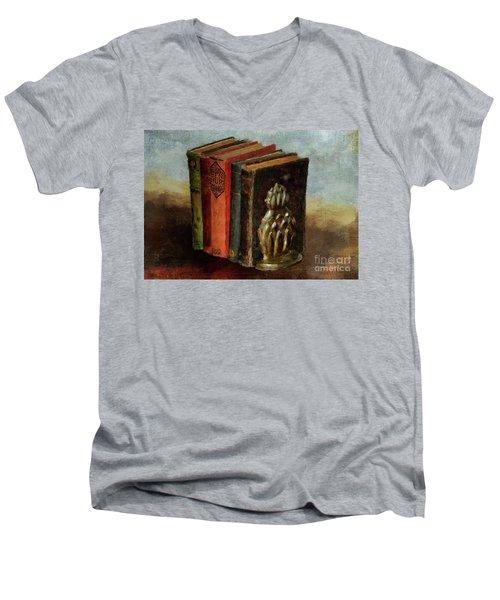 Men's V-Neck T-Shirt featuring the digital art Portable Magic by Lois Bryan