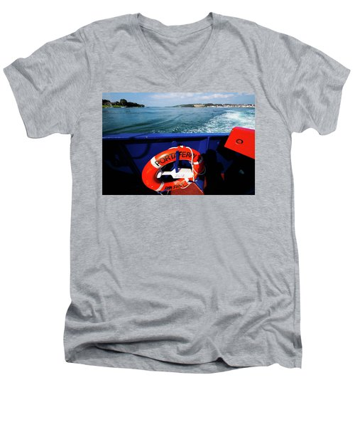 Portaferry Ferry Men's V-Neck T-Shirt