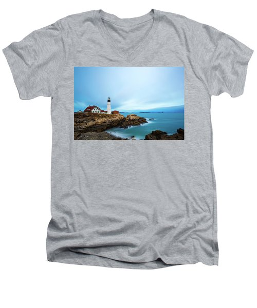 Portland Head Light 1 Men's V-Neck T-Shirt
