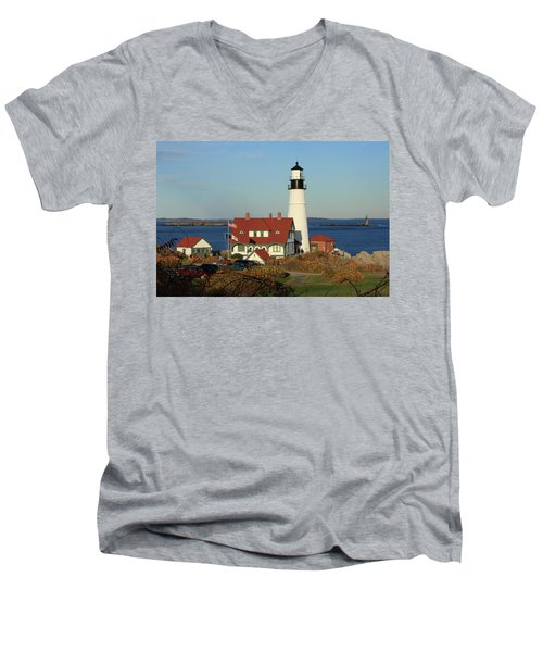 Portland Head Lighthouse 2 Men's V-Neck T-Shirt
