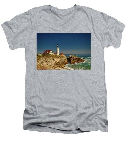 Portland Head Lighthouse 2 Men's V-Neck T-Shirt