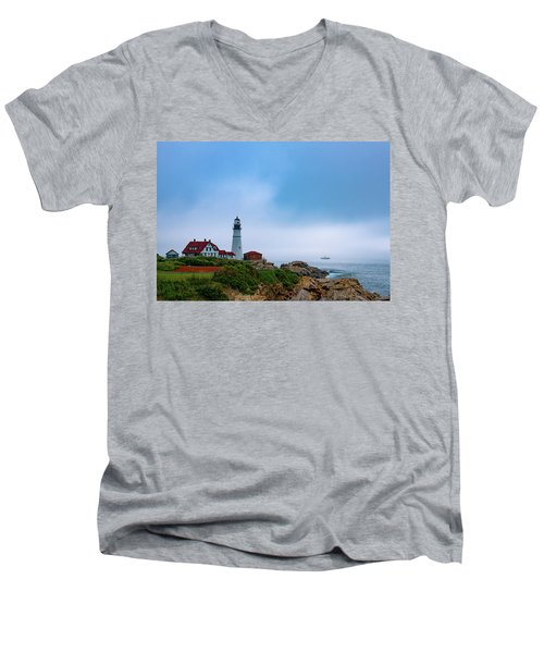Portland Head Lighthouse Men's V-Neck T-Shirt