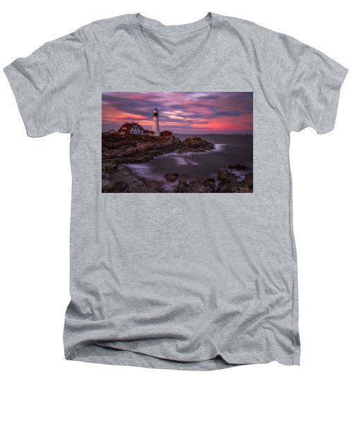Portland Head Sunset Men's V-Neck T-Shirt