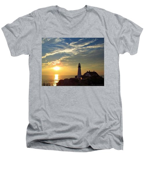 Portland Headlight Sunbeam Men's V-Neck T-Shirt