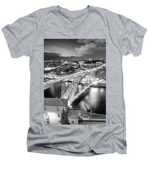 Porto Sao Luis I Bridge Men's V-Neck T-Shirt