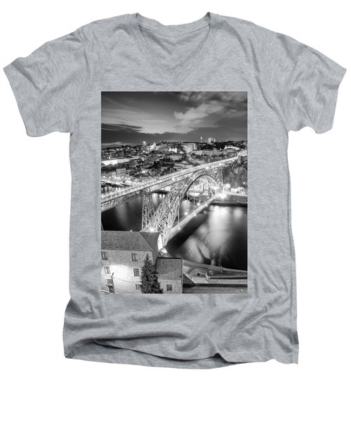 Porto Sao Luis I Bridge Men's V-Neck T-Shirt
