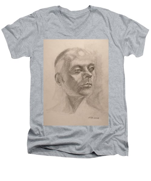 Portrait Men's V-Neck T-Shirt